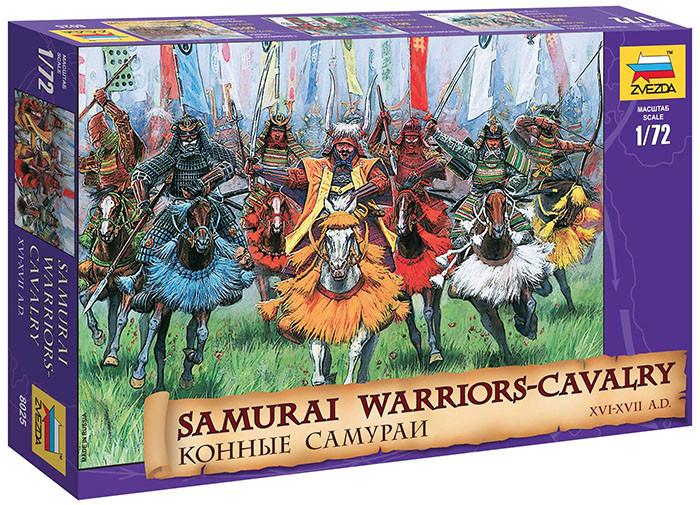 Набор пластиковых фигурок в масштабе 1/72. Конные самураи XVI - XVII вв. 1/72 ZVEZDA 8025