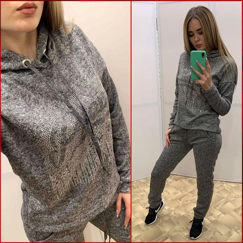 Прогулочный спортивный костюм *Angora-Plein* серый