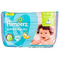 Подгузники Pampers Active Baby-Dry Размер 4+ (Maxi+) 9-16 кг, 45ш
