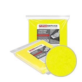 Серветки віскозні жовті 32х38 5 шт / уп PRO Service Professional