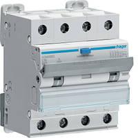 Дифференциальный автоматический выключатель Hager (ДАВ) 4P 6kA C-16A 30mA A (ADM466C)