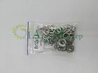 Шайба алюминиевая уплотнительная 8х12х1,5 Упаковка 100 шт.