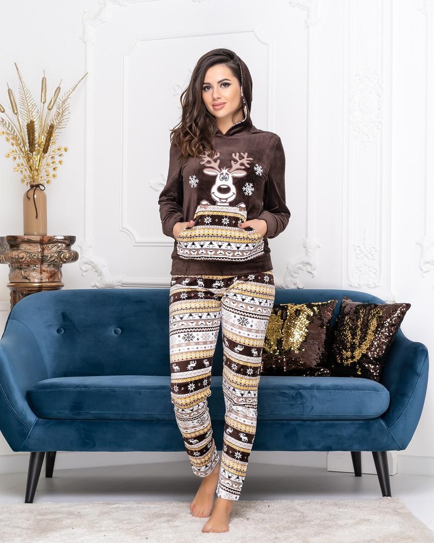 """Женская стильная пижама """" Олененок """" ДГс18309 (норма)"""