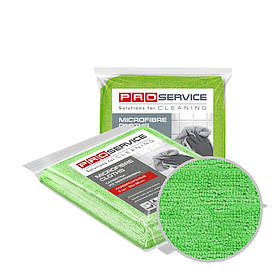 Серветки з мікрофібри універсальні зелені 38х38 3 шт PRO Service Professional