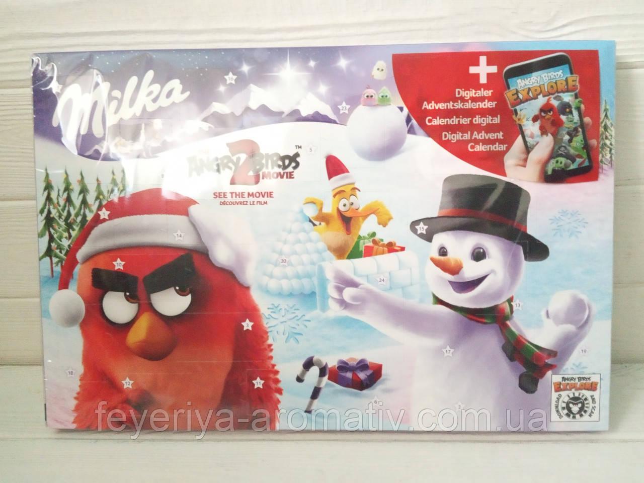 Адвентический календарь новогодний с молочным шоколадом Milka Adventskalender 200g (Швейцария)