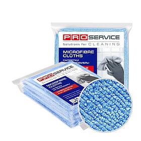 Серветки з мікрофібри універсальні для прибирання 5 шт PRO Service Standart