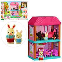Будиночок дитячий 2 поверхи меблі, фігурки