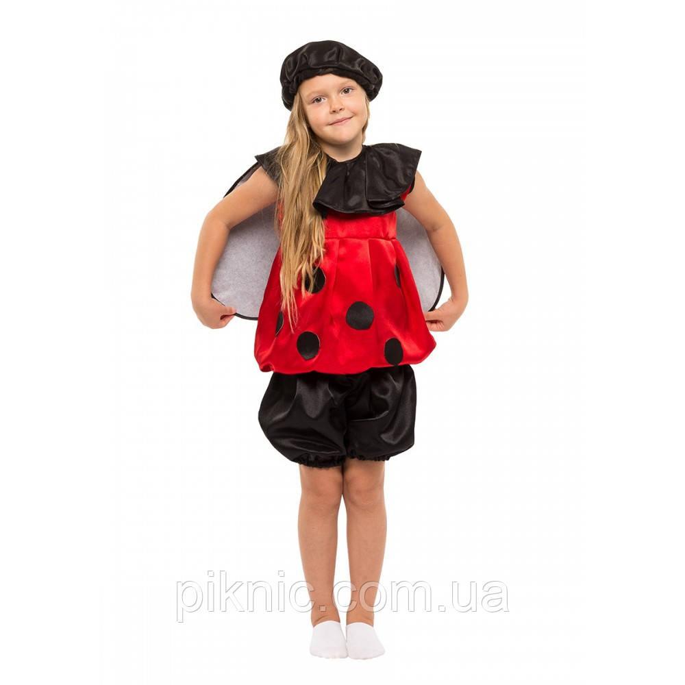 Костюм Божья Коровка 4,5,6,7,8 лет. Детский новогодний карнавальный костюм насекомые 342