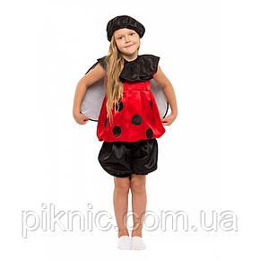 Костюм Божья Коровка 4,5,6,7,8 лет. Детский новогодний карнавальный костюм насекомые 342, фото 2