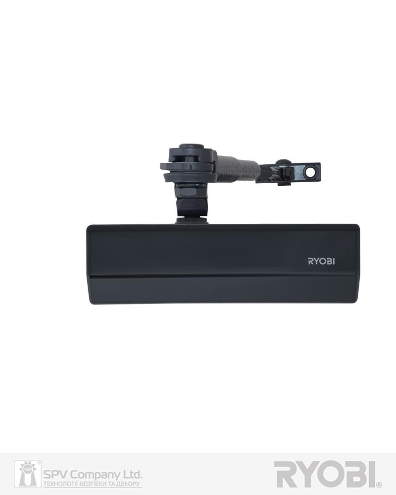 Накладной фиксирующий доводчик RYOBI *1500 DS-1554 GREY_ANTHRACITE STD_HO_ARM EN_2/3/4 до_80кг 1100мм