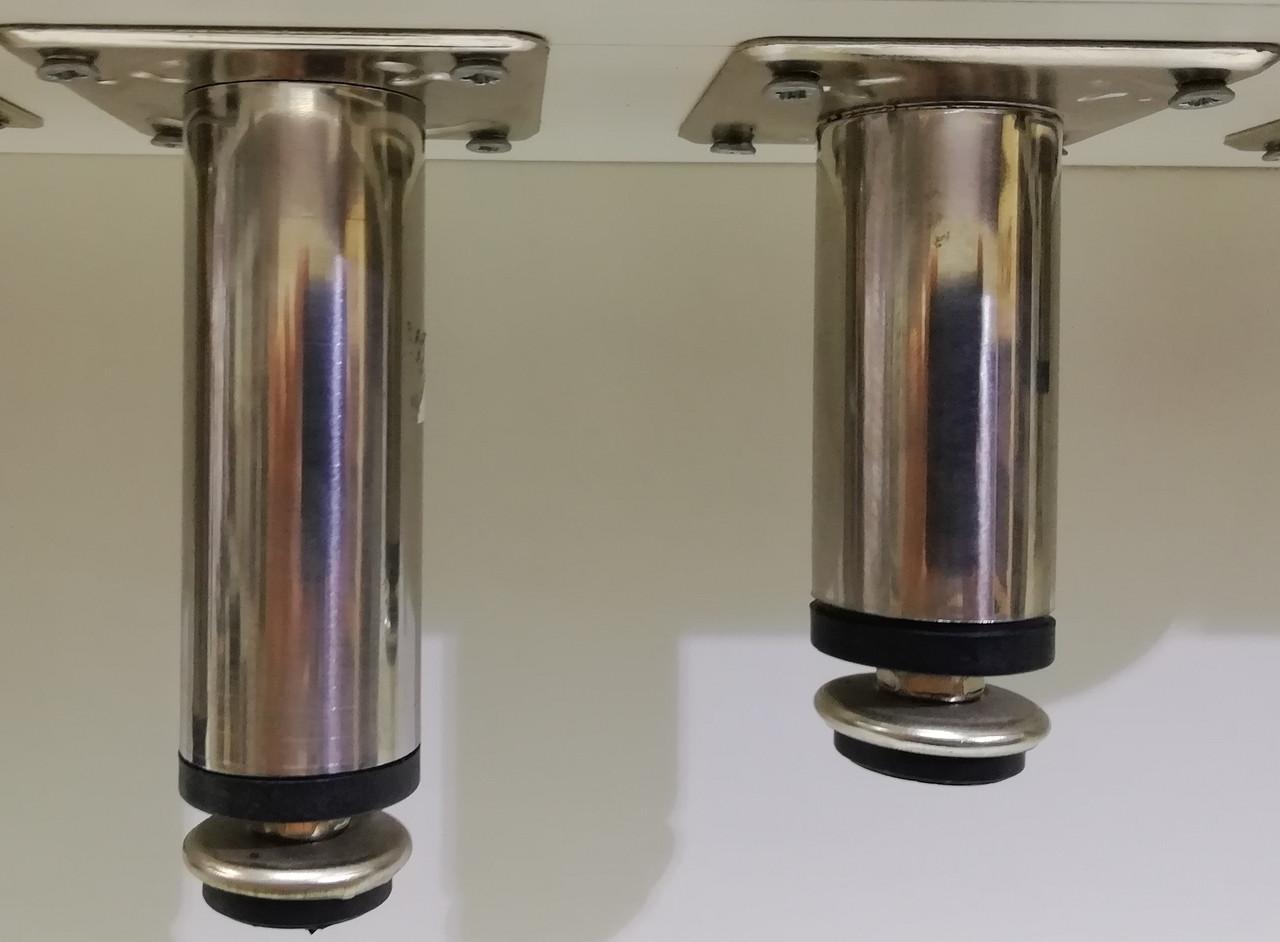 Опора (ніжка) циліндрична регульована GIFF ROUND 30/50, 80, 100 ХРОМ