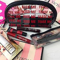Подарочный набор  от Victoria's Secret (Косметичка + хайлайтер + Тушь + Блеск для губ)