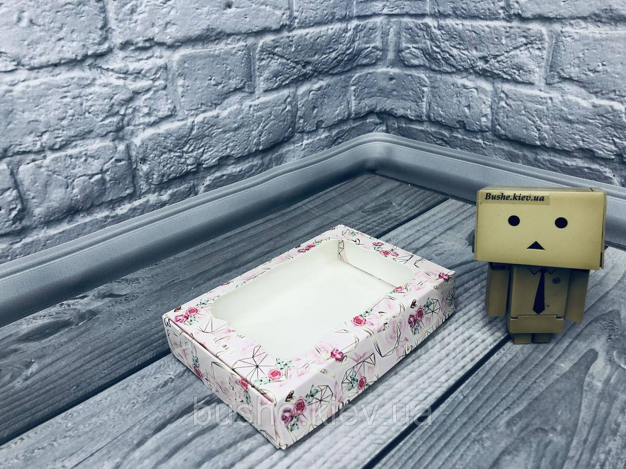 *10 шт* / Коробка для пряников / 100х150х30 мм / печать-КристальноеСердце / окно-обычн / лк
