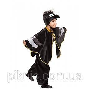 Костюм Ворон 4,5,6,7,8 лет. Детский новогодний карнавальный костюм птицы Ворона для мальчиков 342, фото 2