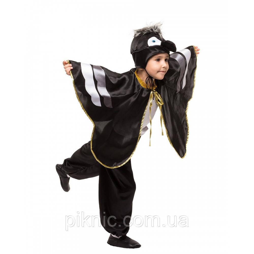 Костюм Ворон 4,5,6,7,8 лет. Детский новогодний карнавальный костюм птицы Ворона для мальчиков 342