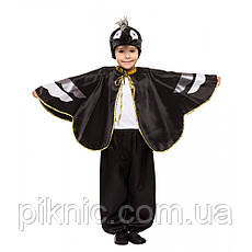 Костюм Ворон 4,5,6,7,8 лет. Детский новогодний карнавальный костюм птицы Ворона для мальчиков 342, фото 3