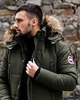 Парка мужская зимняя до -35*С Canada олива | куртка удлиненная ОЧЕНЬ теплая