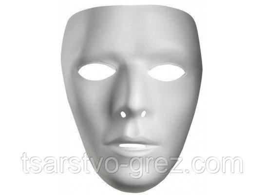 Карнавальна маска біла безлика