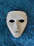 Карнавальна маска біла безлика, фото 3