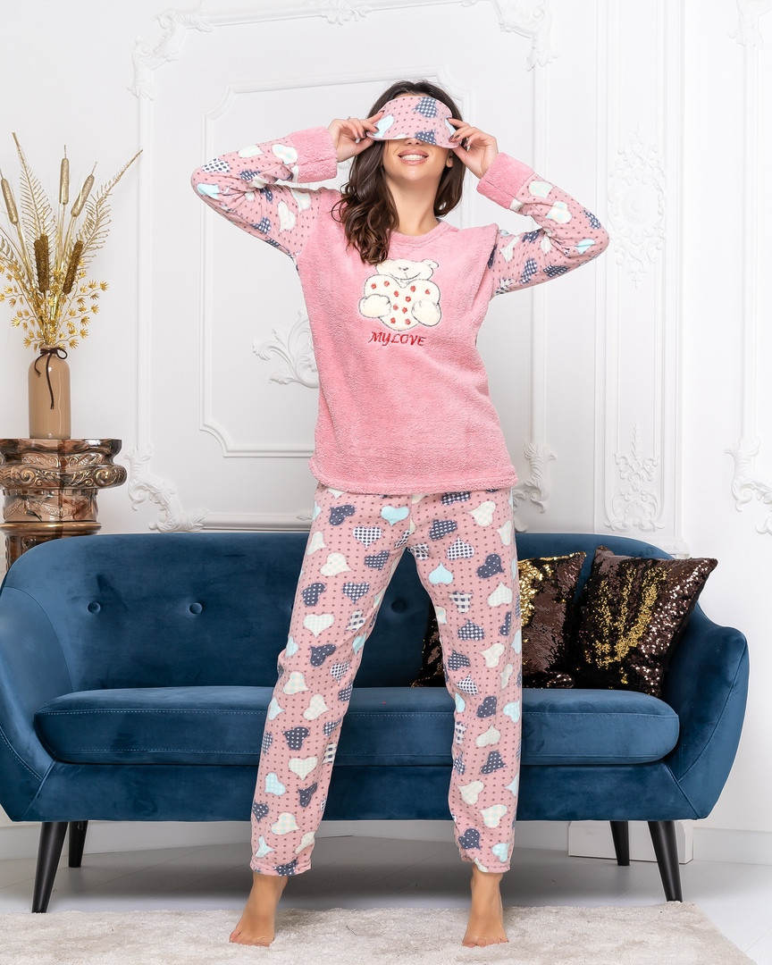 Женская стильная пижама  ДГд7064 (норма / бат)