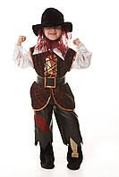 Детский карнавальный костюм для мальчика «Разбойник» 115-125 см, коричневый, фото 1
