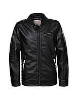 Куртка кожзам для мальчиков оптом, Glo-story, 92/98-128 см,  № BFY-7835, фото 1