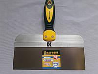 Фасадный шпатель KRAFTOOL 250 мм с 2-компонент ручк, профилиров нержав полотно