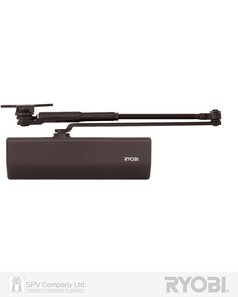 Доводчик фиксирующий накладной  RYOBI *1500 DS-1554P DARK_BRONZE PRL_HO_ARM EN_2/3 до_60кг 965мм