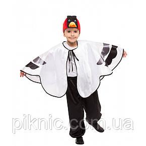 Детский костюм Журавель Аист Цапля 5,6,7,8 лет. Новогодний карнавальный костюм птицы, фото 2