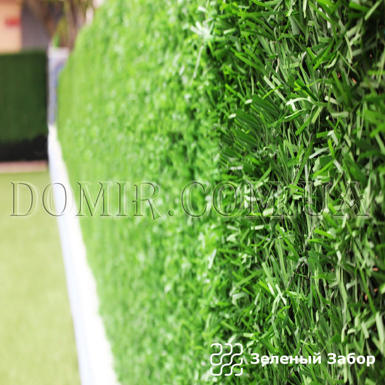 Зеленый забор декоративный