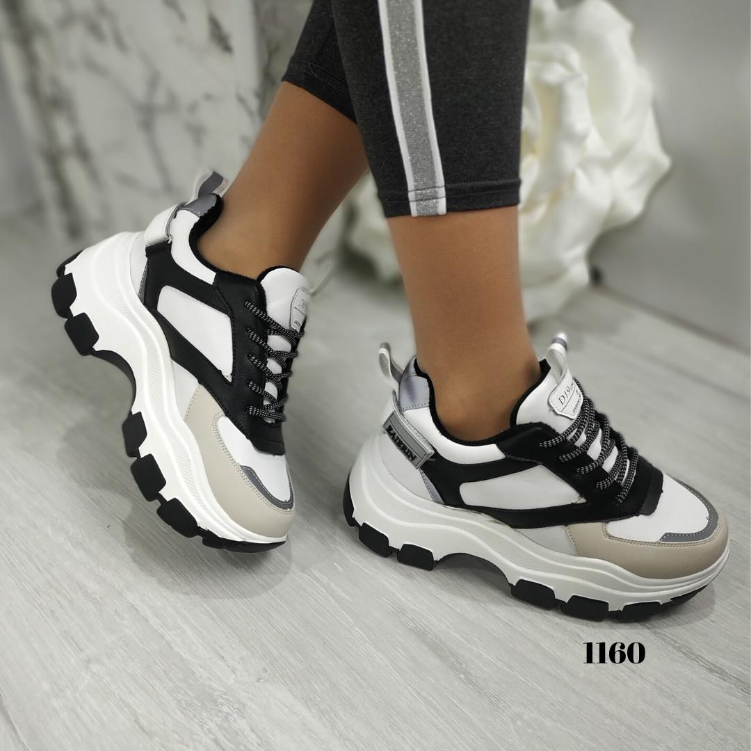 Женские кроссовки на платформе с коротким мехом, ОВ 1160