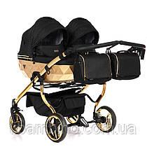 Дитяча універсальна коляска для двійні Junama Mirror Satin Duo 03