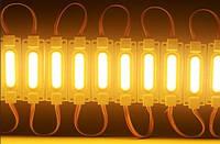 Светодиодный LED модуль 24V COB Y жёлтый герметичный IP65