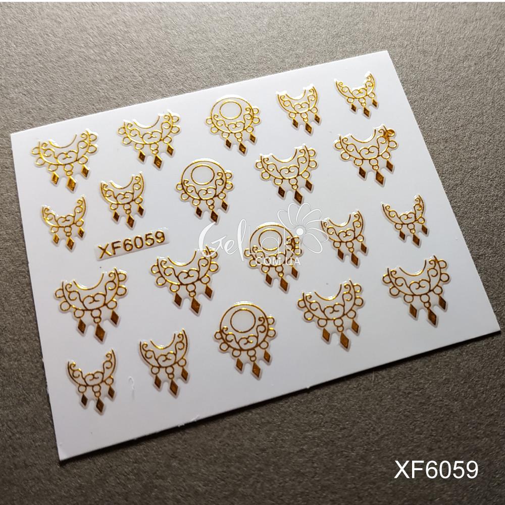 3D наклейки для дизайна ногтей XF6059