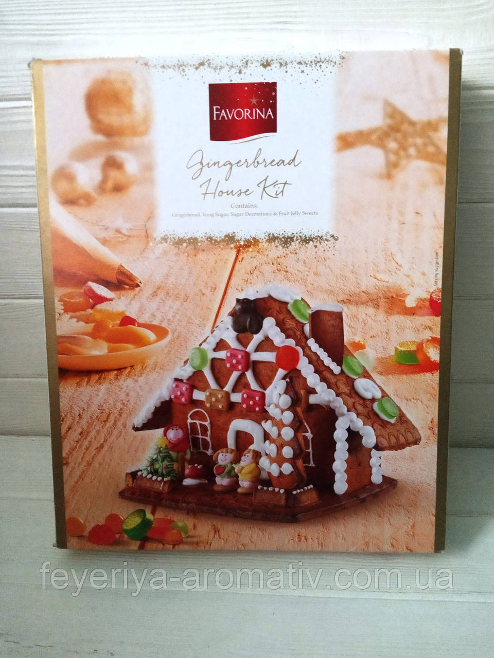 Пряничний домик Favorina Gingerbread House Kit 900г (Италия)