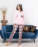 Женская стильная пижама  ДГд7072 (норма / бат), фото 1