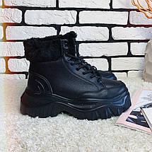 Женские ботинки зимние на толстой подошве /черные, 36-39, dr-121/, фото 2