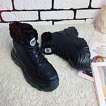 Женские ботинки зимние на толстой подошве /черные, 36-39, dr-121/, фото 3