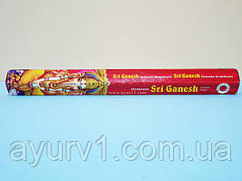 Аромапалички Шрі Ганеш, вугільні / Incense Sticks Shri Ganesh / Darshan / 20 шт
