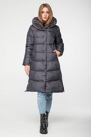 Стильная женская куртка CW19D925CQ зимняя CLASNA графит (#736), фото 2