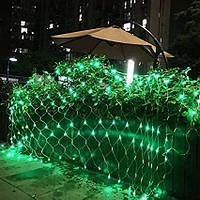 Гирлянда Сетка светодиодная — 240-LED, 2х2 м цвет зеленый