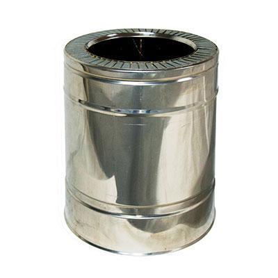 Труба дымоходная 0,25м нерж/нерж ø140/200мм