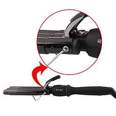 Потрійна плойка щипці для волосся   3 варіанти укладання: хвилі, легкі кучері, щільні кучері PRO MOZER MZ-6621, фото 3