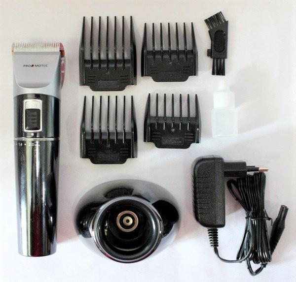 Машинка - триммер для стрижки волос PROMOTEC PM-362 с насадками CG21 PR4
