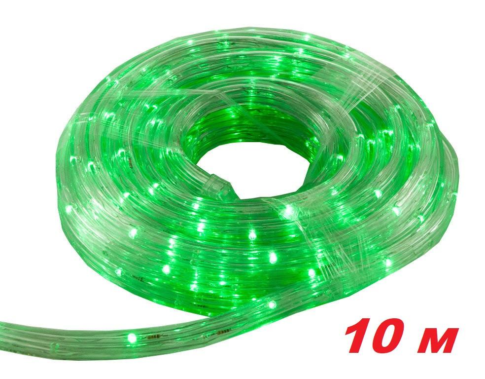 Новогодняя гирлянда зеленого свечения Xmas Rope Light 10M G Дюралайт Шланг LED (10 метров )