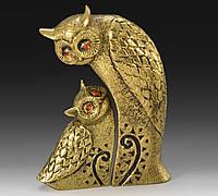 Статуэтка бронзовая Совы 15х10.5 см Золотистый VIRTUS