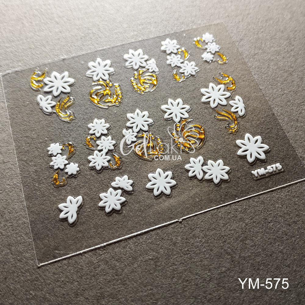3D наклейки для дизайна ногтей YM-575