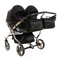 Дитяча універсальна коляска для двійні Junama S-line Duo Gold