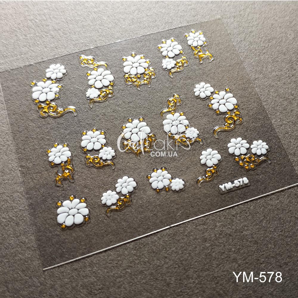 3D наклейки для дизайна ногтей YM-578