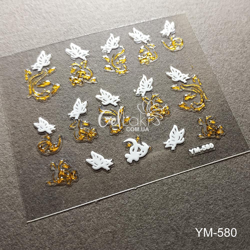 3D наклейки для дизайна ногтей YM-580